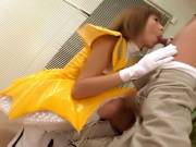 Horny Miku Horikoshi blowjob and cum swallow!